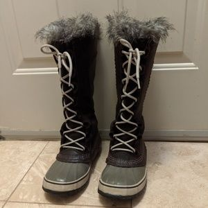 Sorel Tall Leather Snow Boots